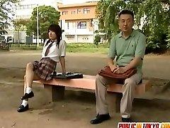 Japanese teenager is fucked on toilet
