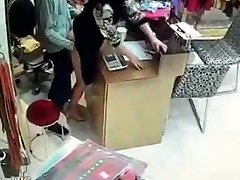 Chinese owner have fuckfest during service hours