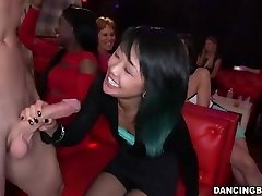 Young Asian Lady deepthroats Stripper