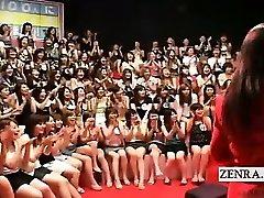 Subtitled CFNM Japanese massive hj dt event