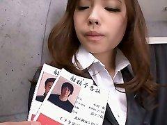 Office teen Aiko Hirose trim poon creamed