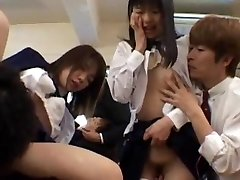 Gangbang girls are insane in the classroom