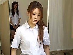 Japanese teen bi-otches in hot hidden camera medical video