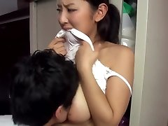 Super-steamy japanese married neighbour teasing me