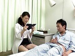 Horny Japanese slut in Splendid Nurse JAV vid