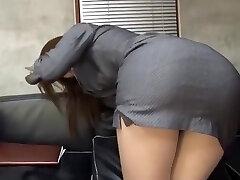 Incredible Japanese whore Riko Miyase in Finest Stockings/Pansuto, Office JAV movie