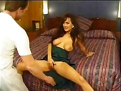 Asia Carrera and her large orbs starring in a hard-core vintage vid