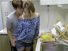 korean softcore collection hot romantic kitchen fuck with orgy toy