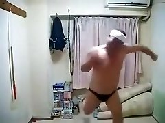 Erotic Insatiable Japanese Male Dancing