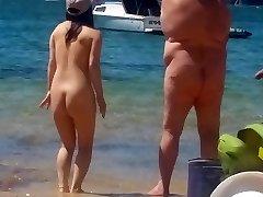 Asian female at nude beach  Sydney part 2