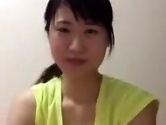 Asian college damsel periscope downblouse boobs
