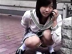 Bottomless Chinese nurse sixtynine sucky-sucky in public