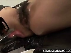 Asian babe bond and fuckd by a humping