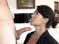 Stepson fucks his asian step-mother