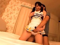 Long legged Asian cheerleader pleads to be fucked all the tim