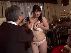 Nasty Japanese tramp Chitose Saegusa in Crazy public, striptease JAV video
