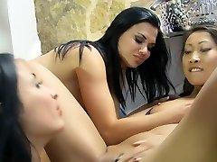 Insatiable pornstars Lindsey Olsen, Anissa Kate and Kristall Rush in exotic blonde, tats xxx scene