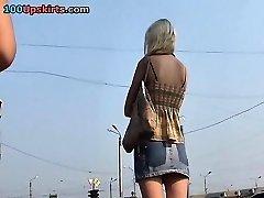 Japanese upskirt voyeur activity