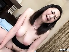 Asian wifey got her hairy pussy drilled after a 69