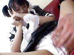 Yuki Hoshino, asiatischen, Magd, genießt den sex mit dem master
