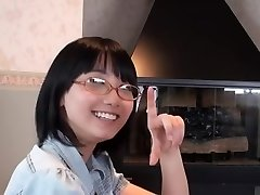Japanese Glasses Girl Blowjob