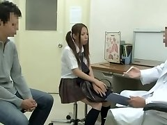 Medical examination with hot Asian vixen being screwed by dangled doctor