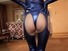 Horny fledgling Latex, Fetish hardcore scene