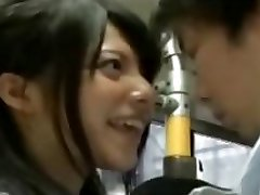 insatiable schoolgirl seduce office workers on bus