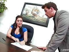 Chinese hottie London Keyes gets an office tear up