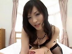 Exotic Asian model Nao Ayukawa in Horny Doggy Fashion, Stockings JAV movie