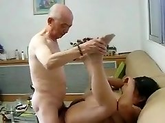 Chinese Granny Neighbour Gets Nailed by Chinese Granddad