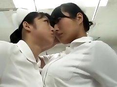 japanische catfight Krankenschwester Strumpfhose Kampf Kampf