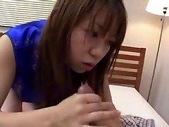 Japanese CFNM Hand Job