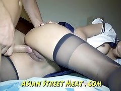Rump Ravaged haning On Asian Balcony