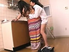 Chunky Oriental housewife gets fucked rock hard by her lover in