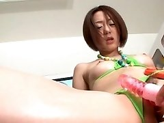 Hairy Asian Stunner Extreme Insertion Fisting