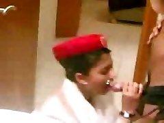 arab emirate steward cabin bj before the flight