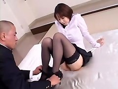 Kinky Japanese girl Misa Nishida in Exotic Cunnilingus, Stockings JAV clip