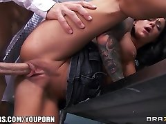 Impressively SCORCHING teacher's assistant Crista Moore fucks her prof