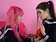 Tranny Schoolgirl Learns to FUCK!
