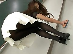 Sexy Japanese girls in pantyhose and socks