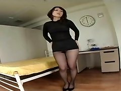 Japanese Wooly Cootchie Under Pantyhose