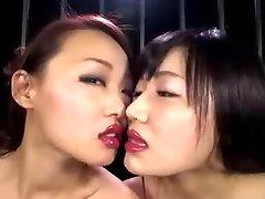 Chinese Lesbian Lipstick Kiss II