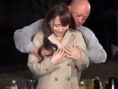 Marina Shiraishi huge boobs woman have fuckfest outdoor