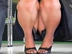 Hot up skirt compilation of giddy Asian bunnies
