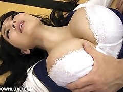 Yam-sized busty asian babe