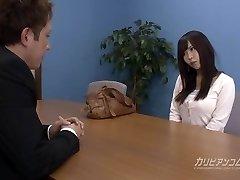 Job interview leads sucking a man sausage