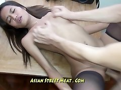 Pure Diminutive Bugger Bitch Gets Thai Membranes Penetrated