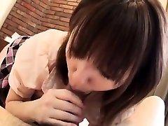 Hiromi Japanese schoolgirl enjoying hardcore fucky-fucky