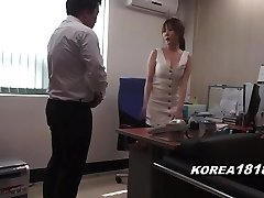 Korean porno SUPER-STEAMY Korean Boss Lady